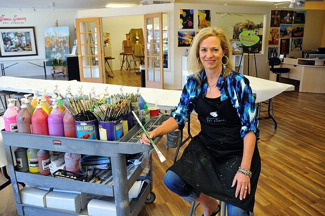 Carrie Curran Art studio Scottsdale