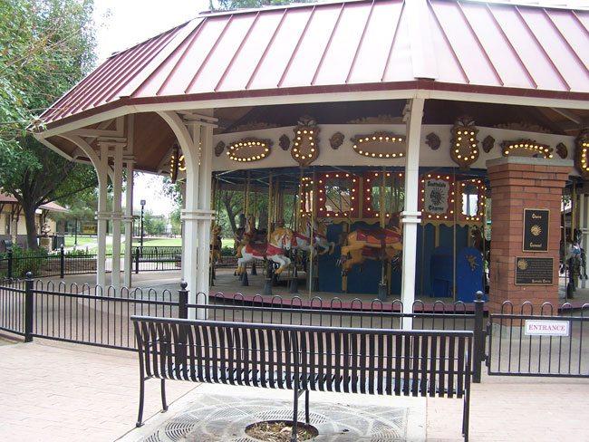 Families can enjoy train and carousel rides during concerts at Stillman-McCormick Railroad Park. Photo: Lynn Trimble.
