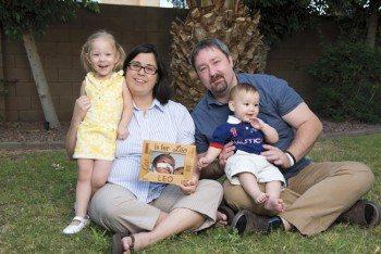 The Blain Christen family: Leandra (3), Jennifer, Leo, Jacob and Liev (9 months).