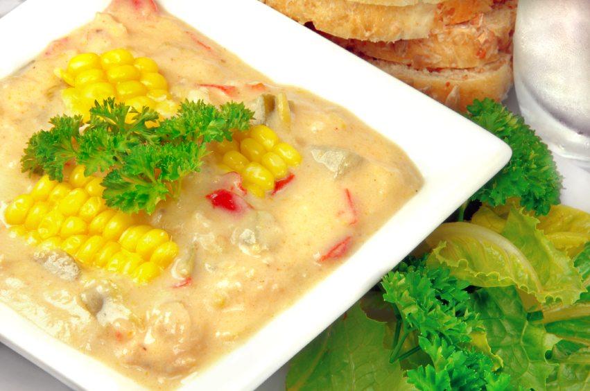 corn chowder, Shamrock Farms Calcium Plus Milk, recipe, soups