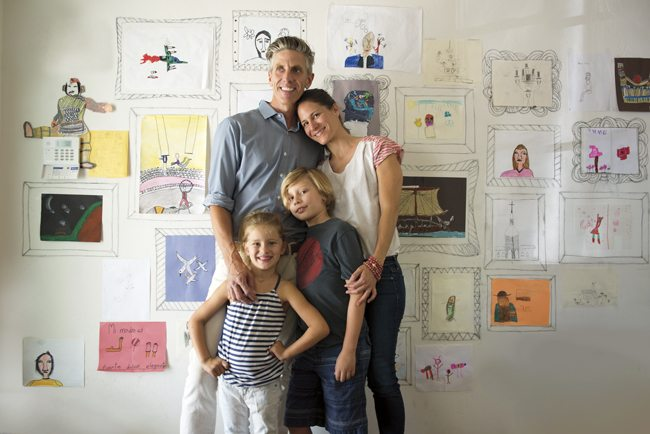 Carrie Bloomston, of Phoenix, with husband Kris Keul, son Ronan (8) and daughter Lucie (5).