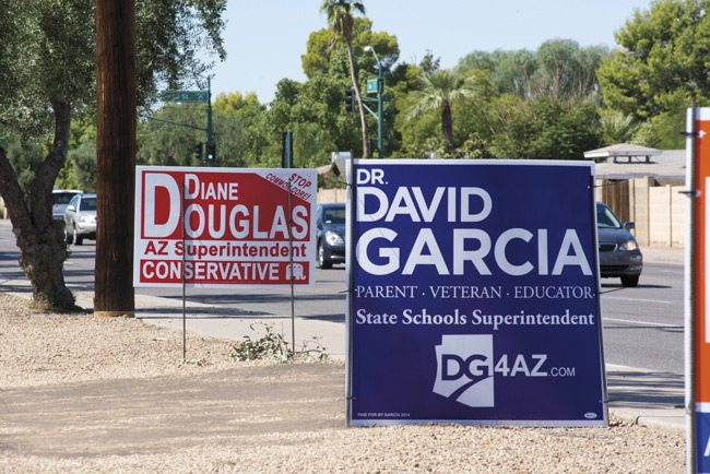 David Garcia, Diane Douglas, Arizona, Superintendent of Public Instruction, election, 2014