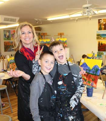 holiday art classes for kids at Carrie Curran Art Studios