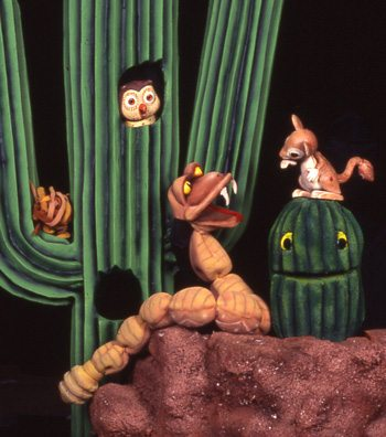 """Characters from """"Hotel Saguaro."""" Photo courtesy of Great Arizona Puppet Theater."""