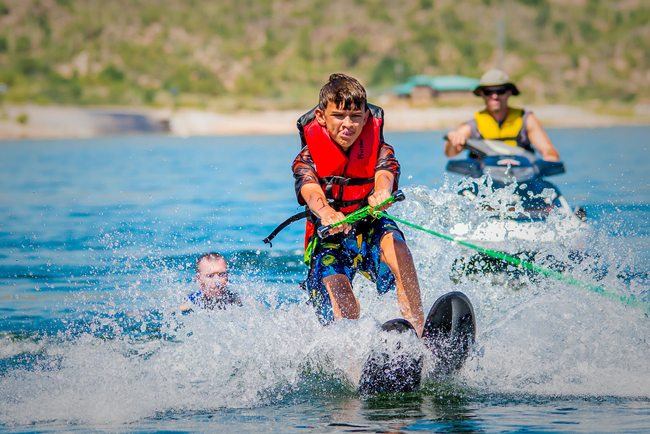 Barrow's Day on the Lake, Bartlett Lake, adapted water sports