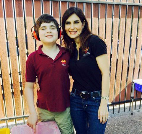 Diana Diaz-Hernandez, Sammy, Arizona Autism Charter School