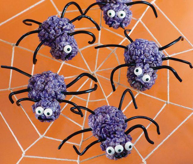 spider, rice crispy treats, Super Cute Crispy Treats, Halloween