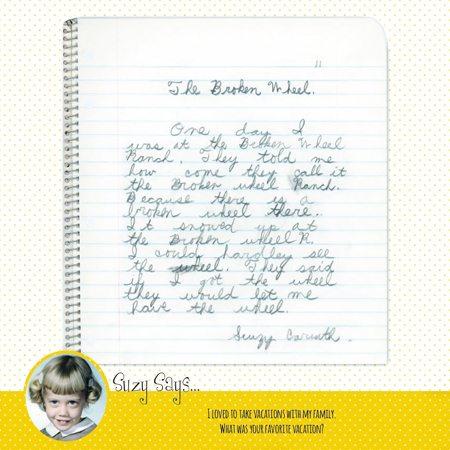 """Ramblings of a 3rd Grader"", Suzy Caruth Thomas Kuperschmidt, journaling, writing, kids"