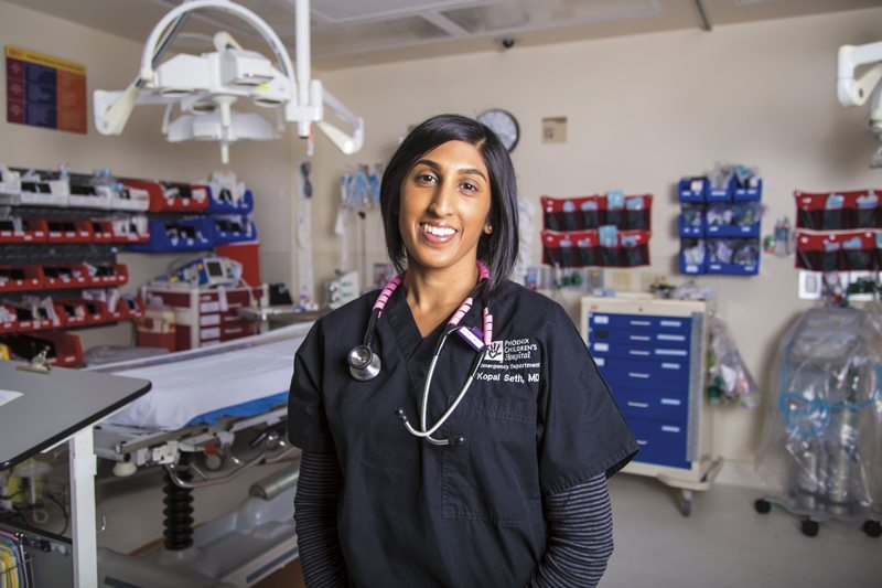 physician moms, Kopal Seth, MD, pediatric emergency room, Phoenix Children's Hospital