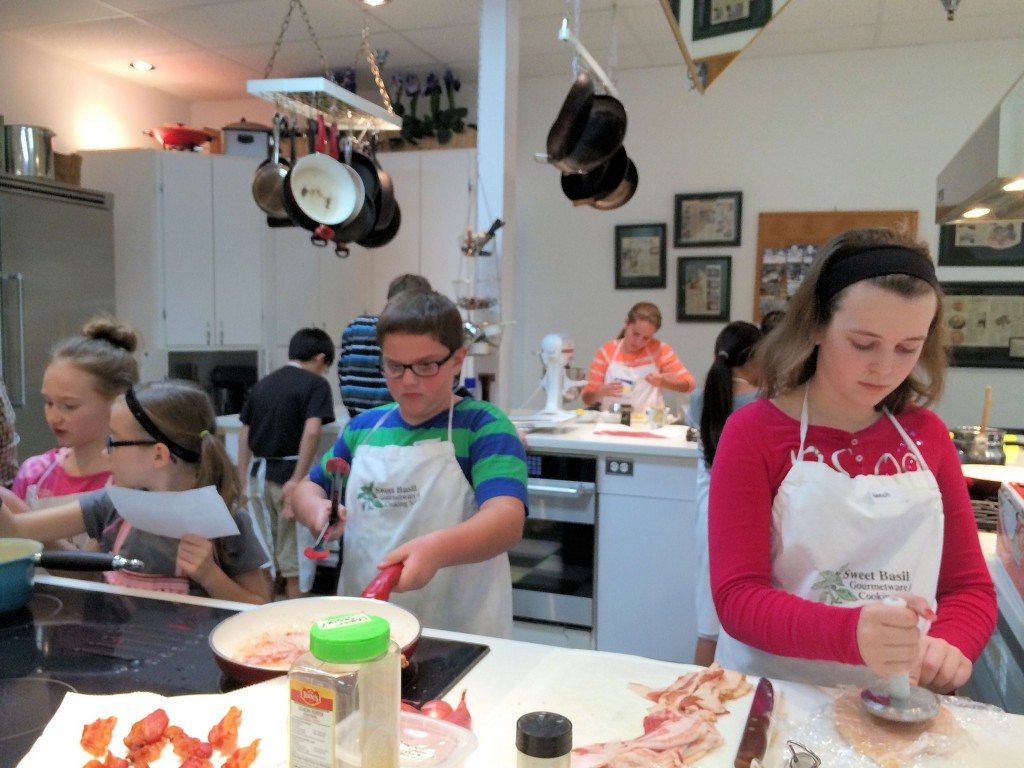 Sweet Basil Gourmet, cooking camp, cooking classes for kids, Scottsdale, Arizona, kids, cooking