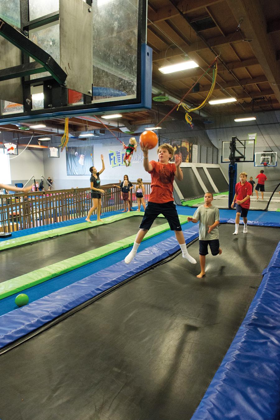 Kids having fun at Flip Dunk Sports. Photo by Dan Friedman.