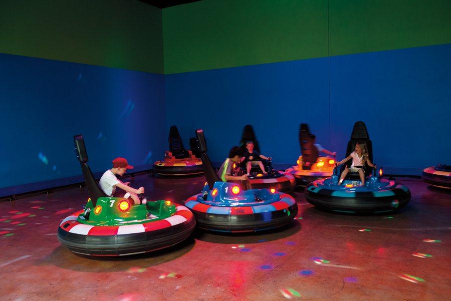 Playing Crash Pods at FlipSide. Photo by Dan Friedman.