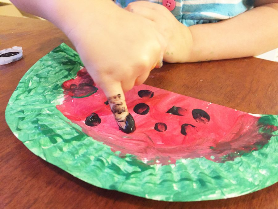 watermelon, painting, craft, summer, preschoolers, things to do, art project