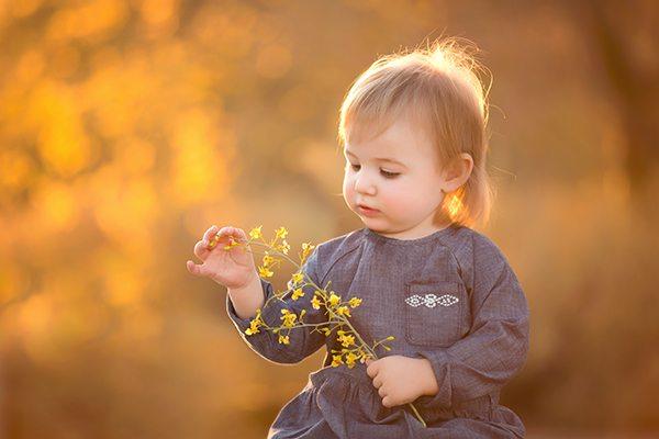 Organize digital photos baby flower