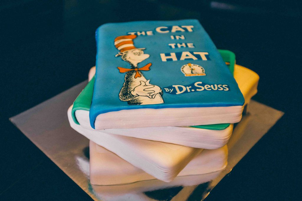 For her son's second birthday, the author opted for a Costco sheetcake, unlike the custom storybook confection for his first birthday party. Photo courtesy of Lexi Peterson.