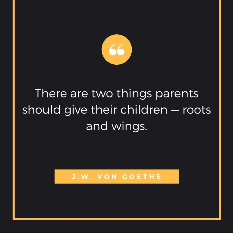 Orange Two things parents should give