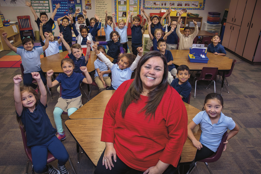Encanto School first-grade teacher Michelle Doherty was named Teacher of the Year by the Arizona Educational Foundation. Photo by Rick D'Elia.