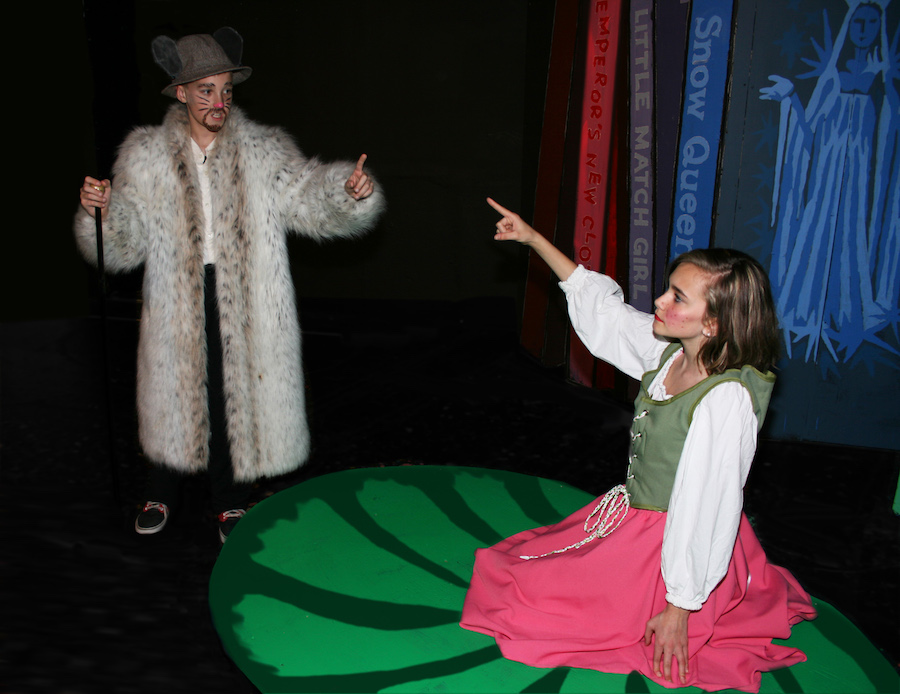 Shawn Emmerson (Walter Rat) on the left and Paige Mayo (Thumbelina) on the right.