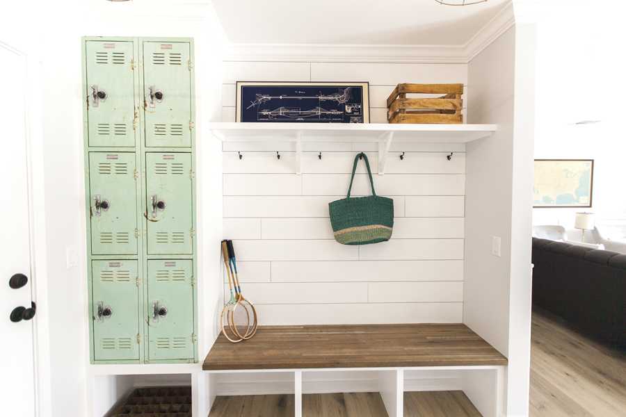Drop-it areas, such as built-in lockers or cubbies where kids can hang their jackets, sports equipment and school backpacks.