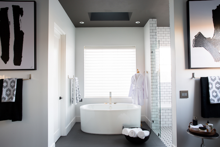 The HGTV Smart Home 2017 in Scottsdale features a master bath with high-tech fixtures from Kohler.
