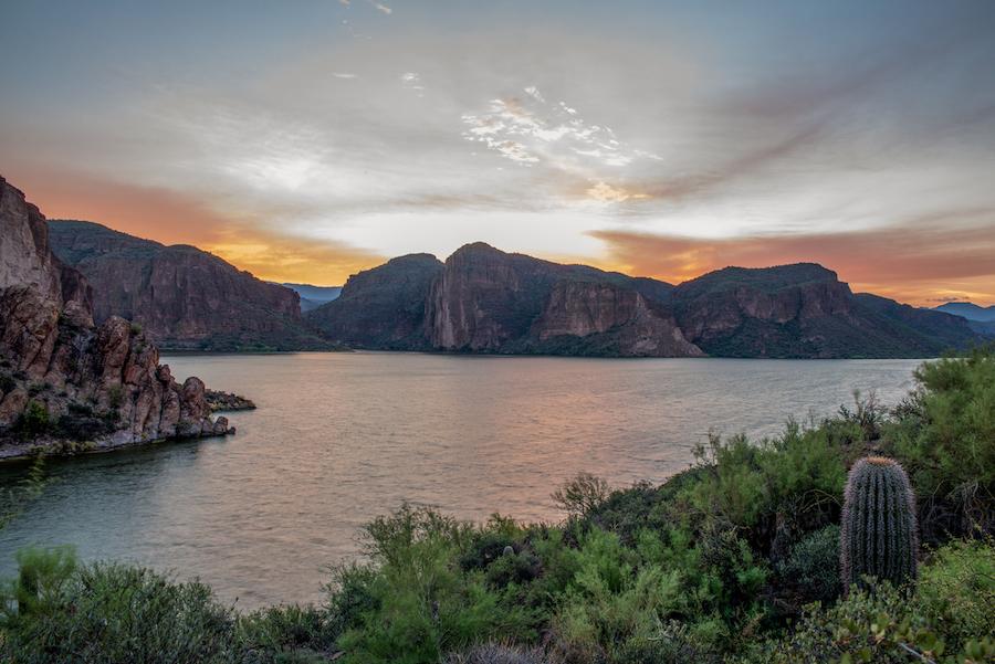 Canyon Lake, Arizona at Sunrise just off of the Apache Trail Hwy 88