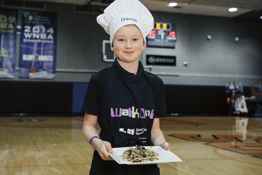 Walk On! Kids cooking challenge winner David Hummert