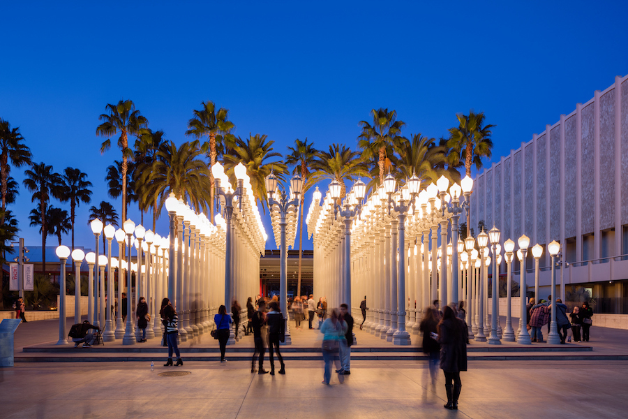 The Los Angeles County Museum of Art is an art museum located on Wilshire Boulevard in the Miracle Mile vicinity of Los Angeles. LACMA is on Museum Row, adjacent to the La Brea Tar Pits.