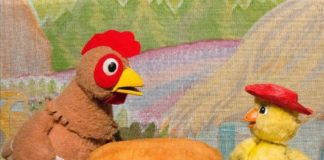 Great Arizona Puppet Theater, drive-in, puppet show, Little Red Hen