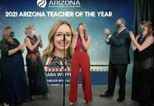 Sara Wyffels, 2021 Arizona Teacher of the Year, Arizona Educational Foundation