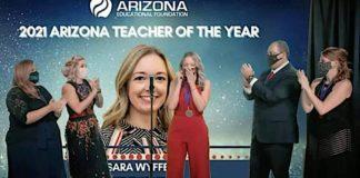 Sara Wyffels, 2021 Arizona Teacher of the Year, Arizona Educational Foundation