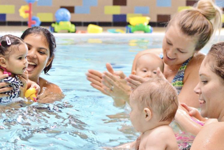 Gold Medal Swim School, swim lessons, baby swim