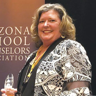 "Jaime Clemens, Mesa Public Schools Counselor and Arizona's 2020 School Counselor of the Year, who will teach a 14-day summer school session to address learning loss and ""give students the boost up many need, and then, they will have plenty of time to be carefree and have fun."""