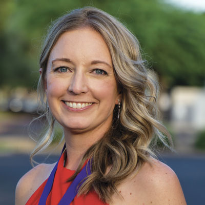 teaching remotely. Sara Wyffels, Chandler High School Spanish teacher and 2021 Arizona Teacher of the Year.