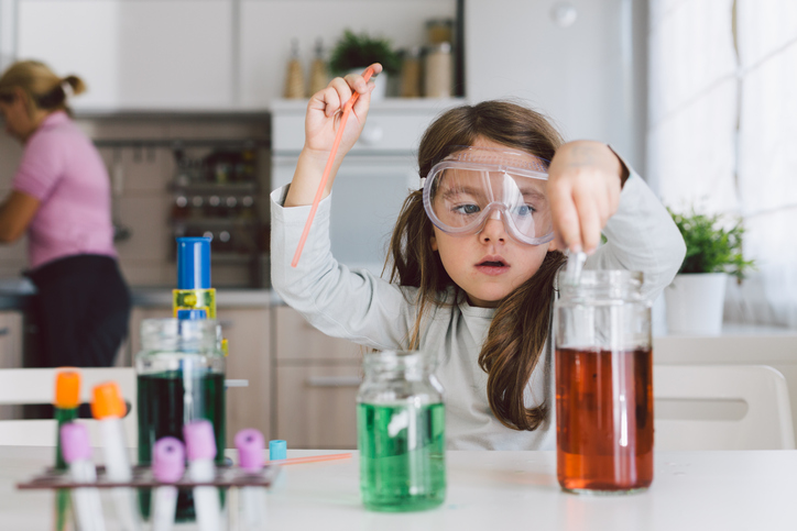 family traditions, science at home, kids science experiment