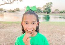 Girl Scout Troop Tasting the New Adventureful Cookie